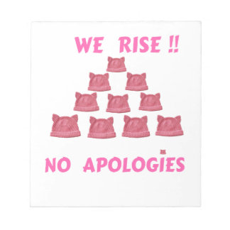 WOMEN'S MARCH WE RISE  NO APOLOGIES NOTEPAD