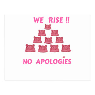 WOMEN'S MARCH WE RISE  NO APOLOGIES POSTCARD