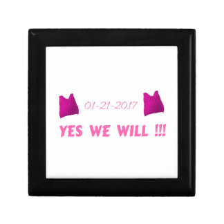 WOMEN'S MARCH  YES WE WILL GIFT BOX