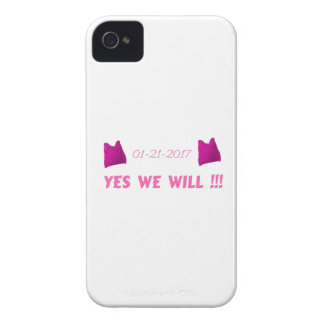 WOMEN'S MARCH  YES WE WILL iPhone 4 Case-Mate CASE