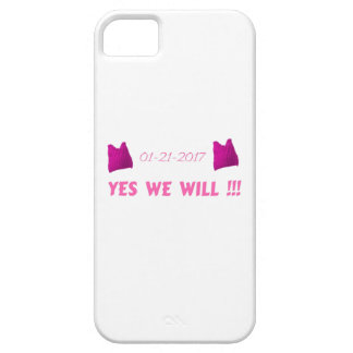 WOMEN'S MARCH  YES WE WILL iPhone 5 CASES