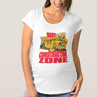 Womens maternity tshirt Baby Construction Zone