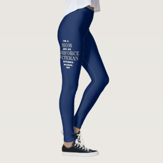 "WOMEN'S ""MOM/AIRFORCE VETERAN"" SPANDEX LEGGINGS"