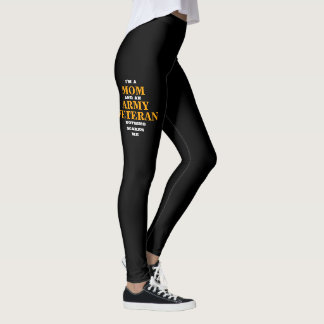 "WOMEN'S ""MOM and ARMY VETERAN"" SPANDEX LEGGINGS"