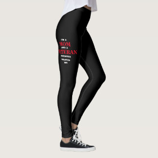 "WOMEN'S ""MOM and VETERAN"" SPANDEX LEGGINGS"