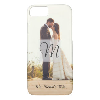Women's Monogram New Bride Wedding Photo Case