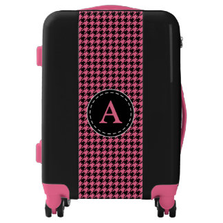 Women's Monogrammed Pink Suitcase Luggage Gift