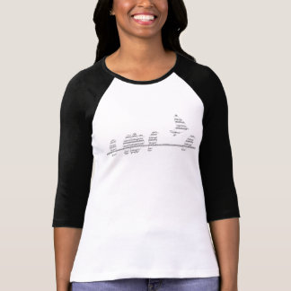 Women's music birds flying T-Shirt