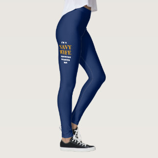 "WOMEN'S ""NAVY WIFE"" SPANDEX LEGGINGS"