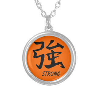 """Womens Necklace with the symbol """"Strong"""""""