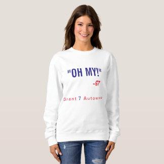 "Women's ""Oh My!"" Sweatshirt Red & Blue Text"
