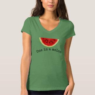 """Women's """"one in a melon"""" summer watermelon shirt 2"""