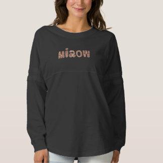 Women's oversized T-shirt with 'miaow'