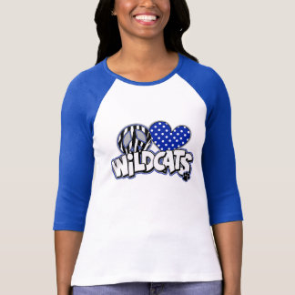 WOMEN'S PEACE LOVE Wildcats Raglan Baseball Tee