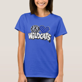 WOMEN'S PEACE love Wildcats Royal SS Tee