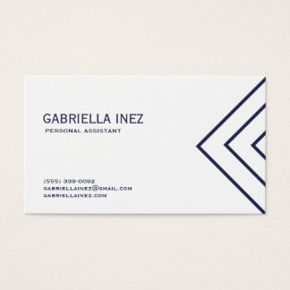 Women's Personal Assistant Navy Blue and White