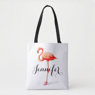 Women's Personalised Flamingo Tote Bag