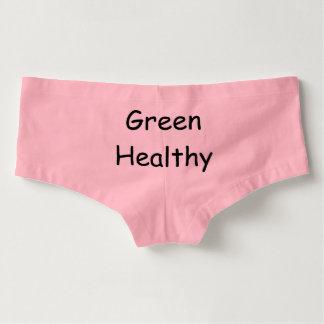 Women's Pink Green Healthy Underwear