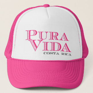 Women's Pink Pura Vida Costa Rica Trucker Hat