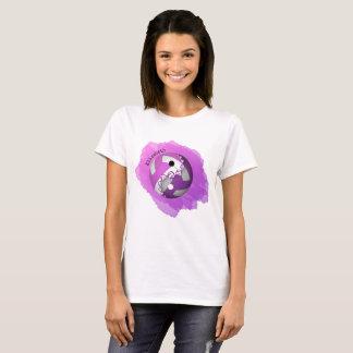 Women's pink purple splash yin and yang volleyball T-Shirt