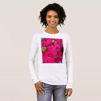 Women's poinsettias shirt