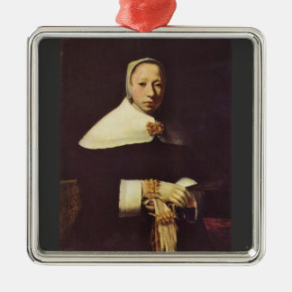 Women's portrait by Johannes Vermeer Christmas Tree Ornaments