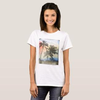 Women's Printed T-Shirt Palm Trees