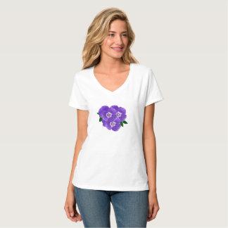 Women's Purple Pansy Bouquet T-Shirt