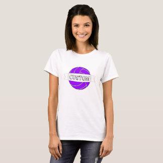 Women's Purple Volleyball Customizable T-shirt