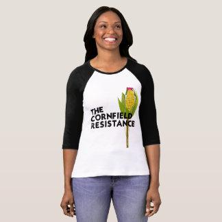 Women's Raglan T-Shirt - The Cornfield Resistance