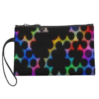 Women's Rainbow Hive Mini Clutch Purse