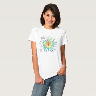 Women's Rainbow Ice Crystal Snowflake T-Shirt
