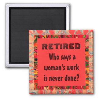 womens retirement joke square magnet