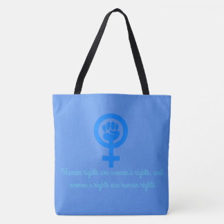 Women's Rights are Human Rights Bag - Serenity Blu