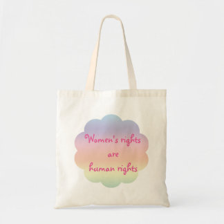 Womens Rights are Human Rights Rainbow Tote Bag