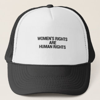 Women's rights are human rights trucker hat