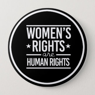 Women's Rights are Human Rights - - white - 10 Cm Round Badge