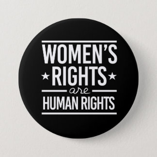 Women's Rights are Human Rights - - white - 7.5 Cm Round Badge