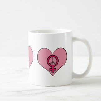 Womens Rights Protest Heart Feminist Coffee Cup
