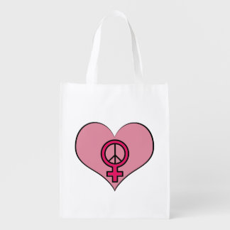 Womens Rights Protest Heart Feminist Tote Bag