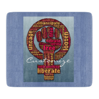 women's rights raised fist Thunder_Cove Cutting Board
