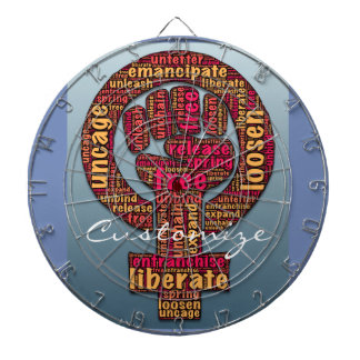 women's rights raised fist Thunder_Cove Dart Board