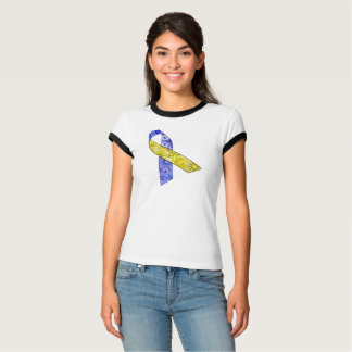 Women's  Ringer T-Shirt Down syndrome awareness