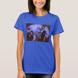 Women's Royal Blue Basic T-Shirt - Family Portrait