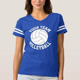 Women's Royal Blue & White Volleyball Jersey Shirt