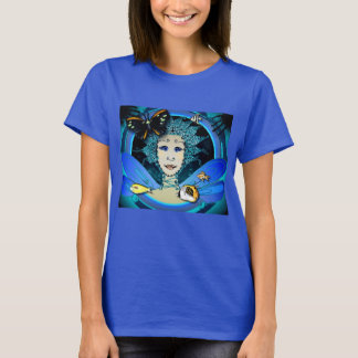 Women's Royal T-Shirt with Fairy and Forest Images