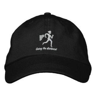 """Womens Running """"Going the distance!"""" Embroidered Cap"""