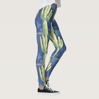 Women's Saguaro Cartoon Leggings