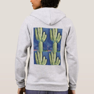 Women's Saguaro Cartoon Zip Hoodie