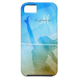 women's sand surf sky volleyball at the beach iPhone 5 covers